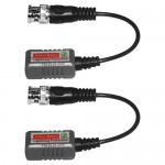 Par balun transceptor pasivo video pigtail compatible AHD/HD-CVI/TVI/Analogo